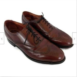 Bostonian burgandy brown leather oxfords 7.5 D